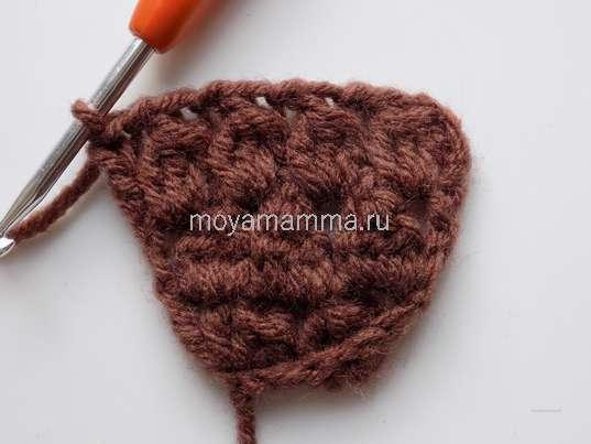 Вязание третьего ряда шляпки