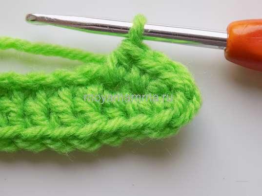 Вязание листочка крючком