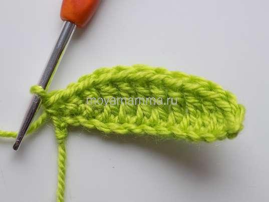 Спиральный цветок крючком. Столб. с накидом и обычный столбик