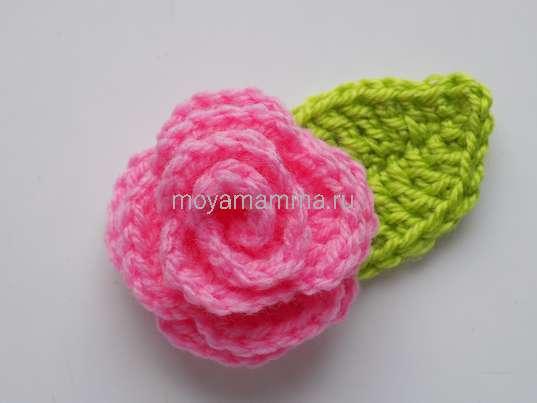 спиральный цветок крючком