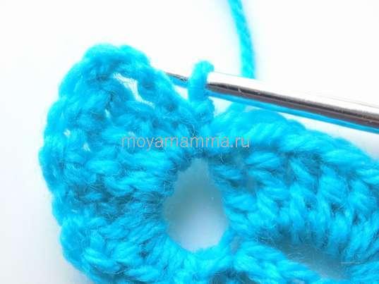 Разворачивание вязания