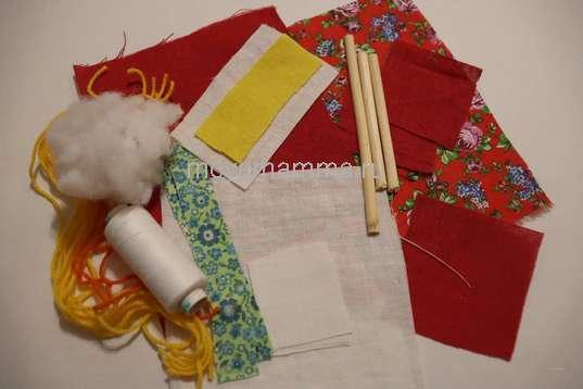 Материалы для изготовления куклы масленица