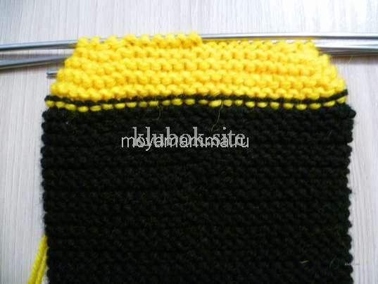 Вязание платочной вязкой