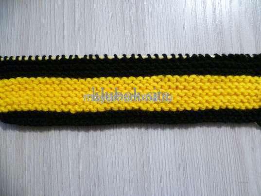 Переход на вязание черной пряжей