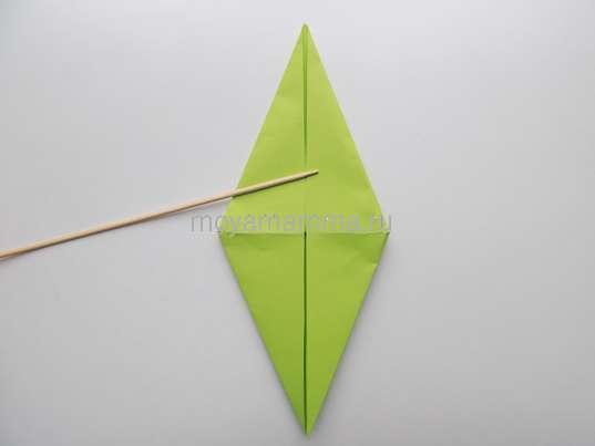 Изготовление самолета оригами