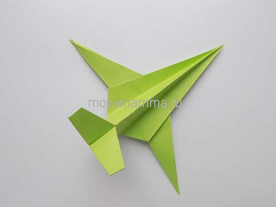 Объемная аппликация к 23 Февраля. Самолет оригами