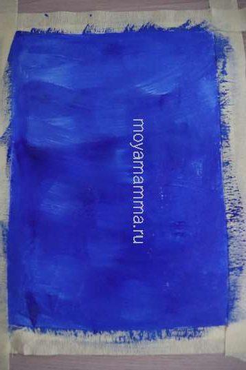 Темно-голубой фон