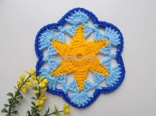 шестиугольный мотив цветком