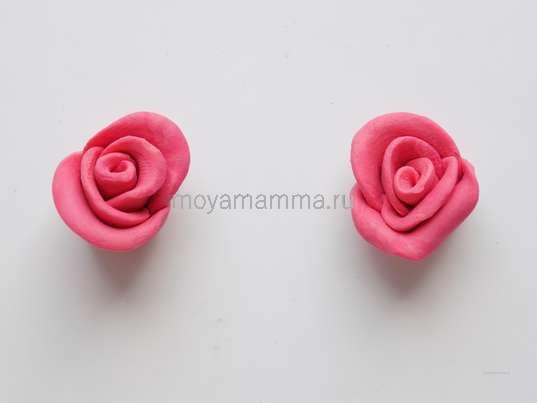 Аппликация розы. Две розы из пластилина