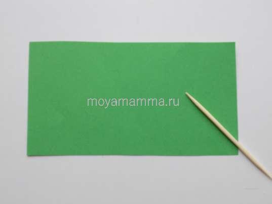 Прямоугольник из зеленой бумаги.