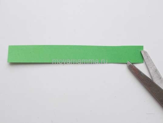 Зеленая полоска 1,5х10 см.