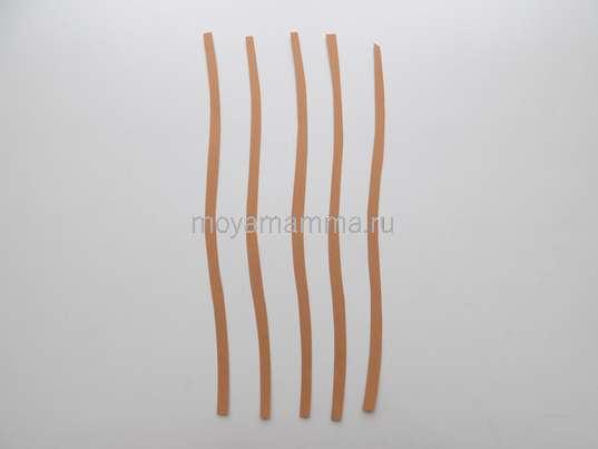 Веточки вербы из коричневой бумаги