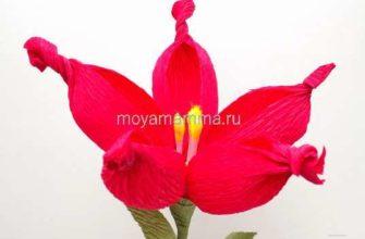 как легко сделать цветок из гофрированной бумаги