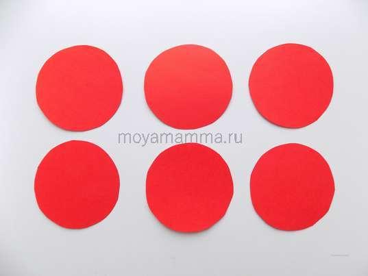 6 кругов одинакового размера