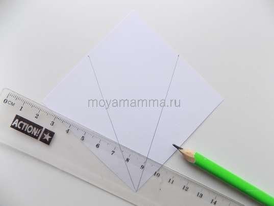 белый квадрат со стороной 8 см.