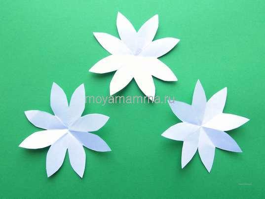 3 заготовки для цветочка
