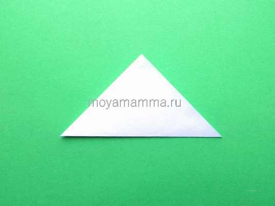 Складывание по диагонали квадрата