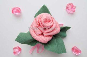 Роза из бумажных салфеток