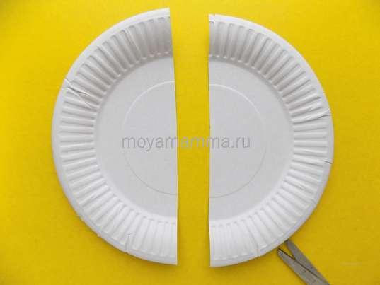 Две половинки тарелки
