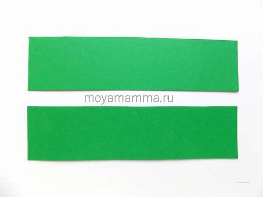 Заготовки из зеленого картона