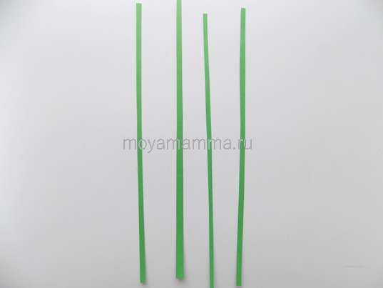 Тонкие зеленые полоски