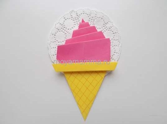 мороженое оригами