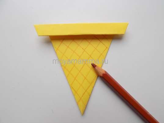 Мороженое оригами. Оформление стаканчика