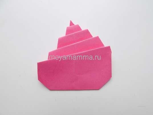 Мороженое оригами. Заготовка с лицевой стороны