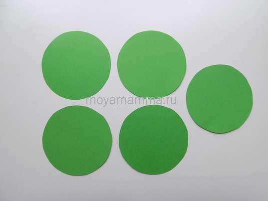 5 кругов диаметром 8 см