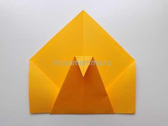 Павлин оригами. Голова павлина