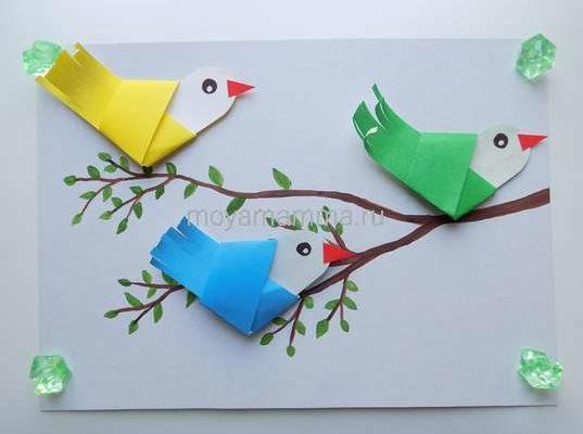 Аппликация Птички-невелички