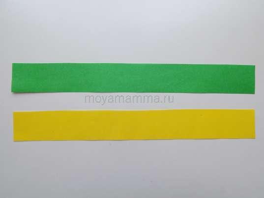 Полосы желтого и зеленого цвета