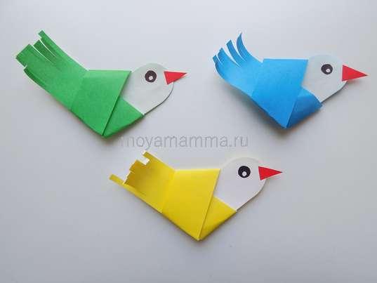 Аппликация Птички-невелички. Три птички