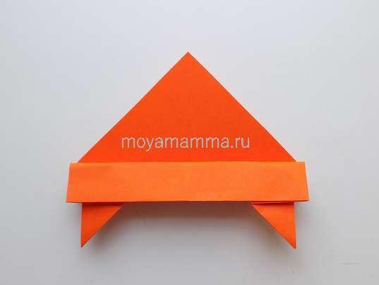 Летающая тарелка оригами. Оформление верха летающей тарелки