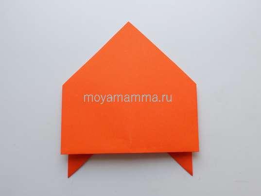 Изготовление летающей тарелки оригами