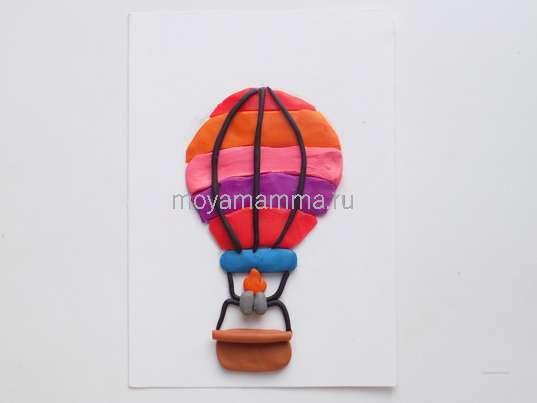 Аппликация из пластилина. Аппликация «Воздушный шар» из пластилина