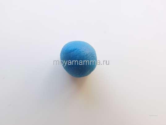 Шарик голубого цвета