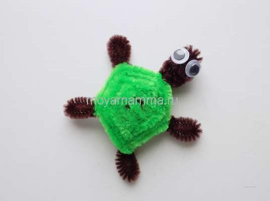 Черепаха из синельной проволоки