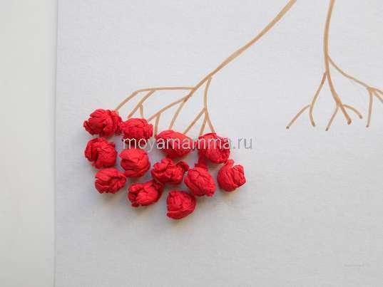 Формирование грозди рябины