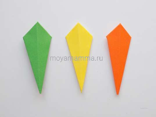 Поделки на тему осень. Заготовки из бумаги зеленого и желтого цвета