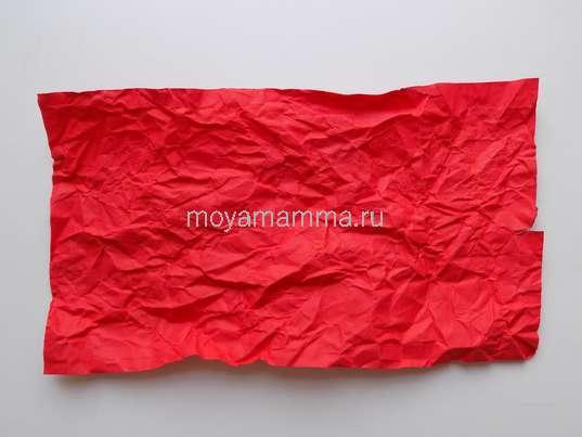 Прямоугольная заготовка красной бумаги