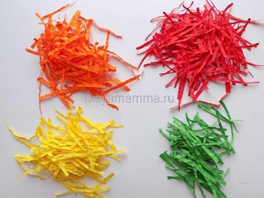 Заготовки из бумаги других цветов