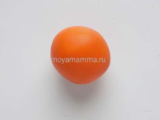 оранжевый пластилин