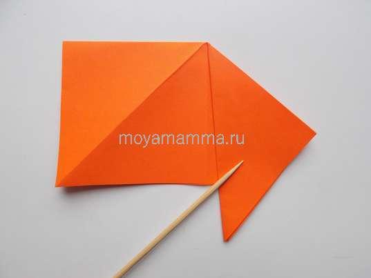 Формирование заготовки для вырезания листочка