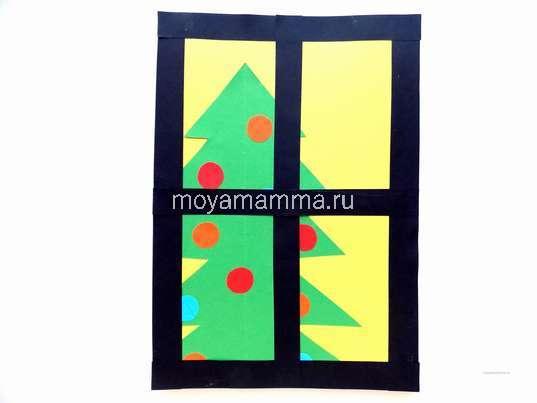 Новогодние поделки. Изготовление рамы окна