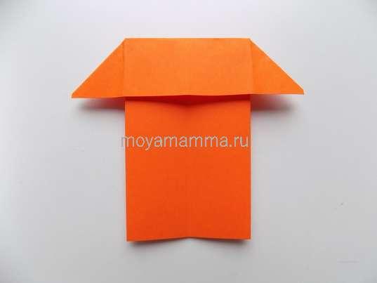 Аппликация город. Оранжевый домик
