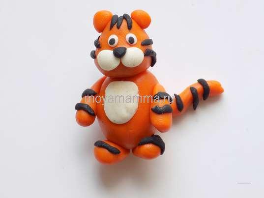 Поделки тигра. Тигр из пластилина