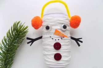 Как сделать снеговика из подручных материалов